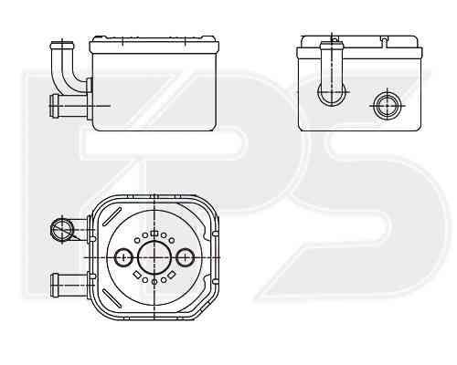Масляный радиатор на AUDI  A6 2001-2005 SDN / AVANT (C5)