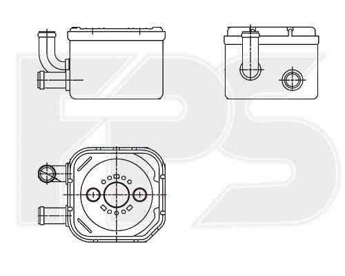 Масляный радиатор на AUDI  A6 2001-2005 SDN / AVANT (C5) , фото 2