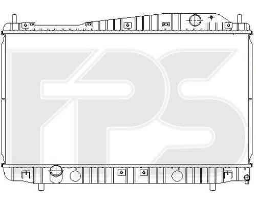 Радиатор охлаждения двигателя Chevrolet Evanda 2003-2006