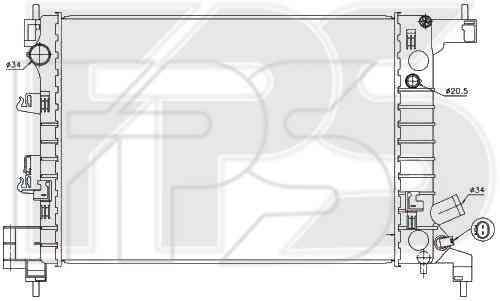 Радиатор охлаждения двигателя CHEVROLET  AVEO 2012- SDN / HB (T300)