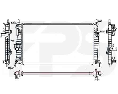 Радиатор охлаждения двигателя Mazda 3 (BL) 2009-2012 SDN / HB
