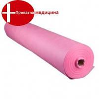 Простынь розовая спанбонд 0,8 х100 м (20)