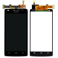 Оригинальный дисплей (модуль) + тачскрин (сенсор) для Huawei Honor 3 HN3-U00 (черный цвет)