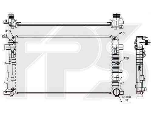 Радиатор охлаждения двигателя Mercedes (Koyorad) FP 46 A60-X