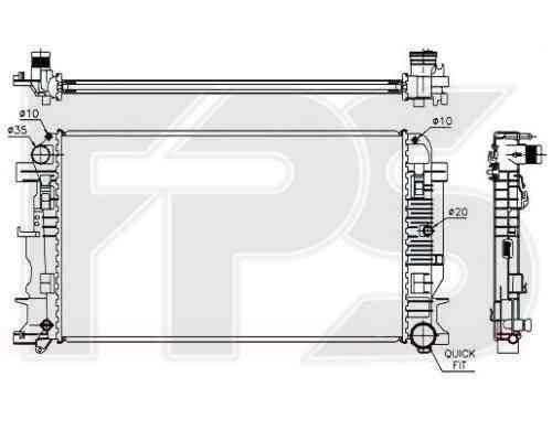 Радиатор охлаждения двигателя Mercedes (Koyorad) FP 46 A60-X, фото 2