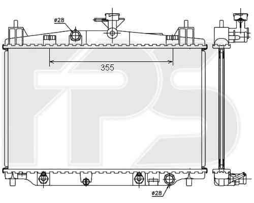 Радиатор охлаждения двигателя MAZDA  2 2007-2011 (DE)