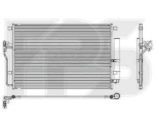 Радиатор кондиционера Mercedes (NRF) FP 46 K148-X , фото 2