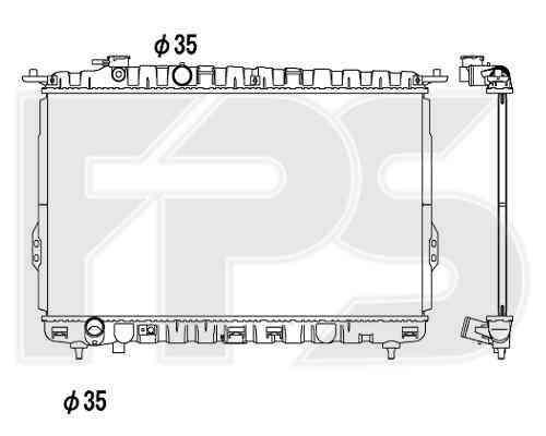 Радиатор охлаждения двигателя HYUNDAI  SONATA 2001-2005 (EF)