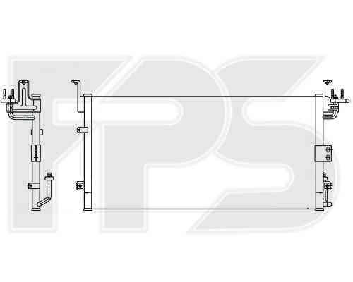 Радиатор кондиционера Hyundai Sonata EF (01-05) (Nissens)