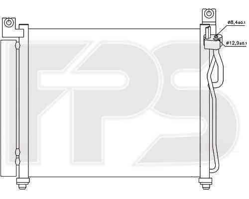 Радиатор кондиционера Hyundai / Kia (NISSENS) FP 40 K328 , фото 2