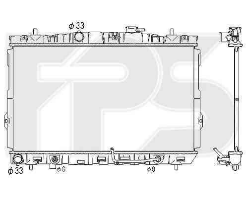 Радиатор охлаждения двигателя Hyundai / Kia (NISSENS) FP 32 A677 , фото 2