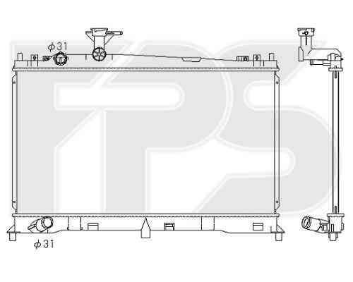 Радиатор охлаждения двигателя Mazda 6 (GG / GY) 2002-2008