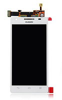 Оригинальный дисплей (модуль) + тачскрин (сенсор) для Huawei Honor 3 HN3-U00 (белый цвет)