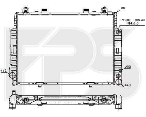 Радиатор охлаждения двигателя Mercedes 140 1991-1998 (S-CLASS)