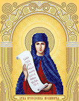 Рисунок на атласе для вышивания бисером Св. Преподобная Аполлинария ( Полина )