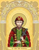 Рисунок на атласе для вышивания бисером Св. Благоверный князь Всеволод