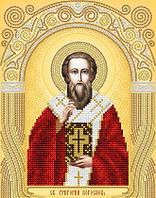 Рисунок на атласе для вышивания бисером Святитель Григорий Богослов