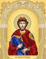 Рисунок на атласе для вышивания бисером Святой князь Ростислав