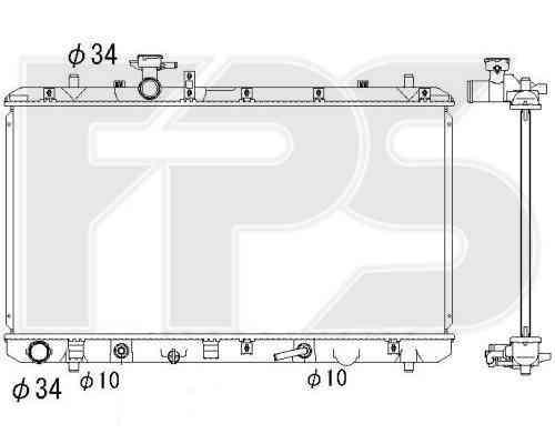 Радиатор охлаждения двигателя Suzuki SX4 (06-14) 1.6 АКПП (Koyorad)