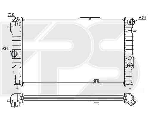 Радиатор охлаждения двигателя Chevrolet / Opel / Daewoo (NRF) FP 52 A2