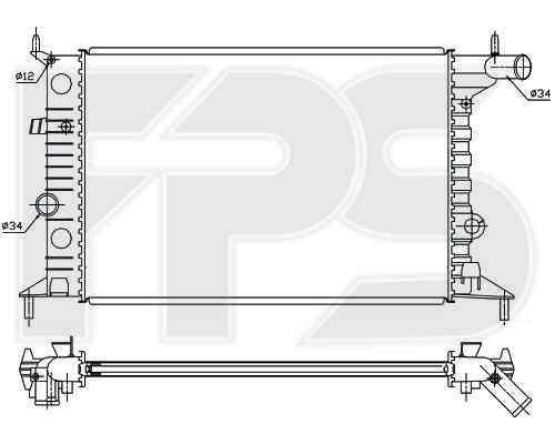 Радиатор охлаждения двигателя Opel (BEHR) FP 52 A280-X