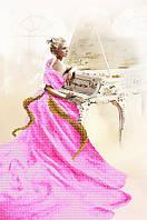 Рисунок на атласе для вышивания бисером Белый рояль (серия «Элит»)