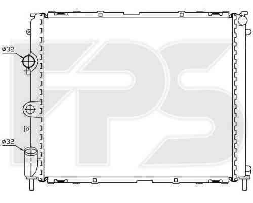 Радиатор охлаждения двигателя Dacia / Renault (NRF) FP 56 A394-X , фото 2
