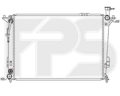 Радиатор охлаждения двигателя Hyundai (Nissens) FP 32 A274-X
