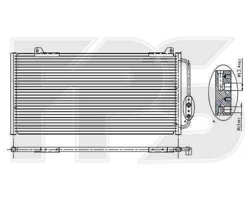 Радиатор кондиционера Honda Civic 1995-2000 EUR