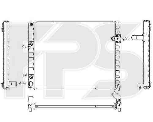 Радиатор охлаждения двигателя INFINITI  FX35 / 55 2009- , фото 2