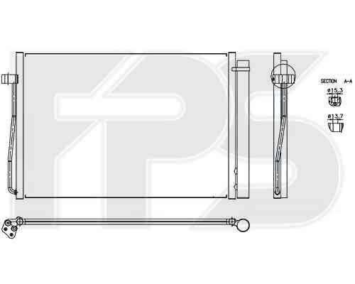 Радиатор кондиционера BMW (Nissens) FP 14 K20 , фото 2