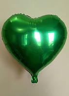 """Фольгированные шары """"Сердечки"""" 45 см Зеленый"""
