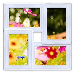 Деревянный фотоколлаж настенный белый на 4 фото Классика 4