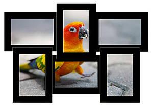 Фотоколлаж из натурального дерева чёрный  на 6 фото Классика 6