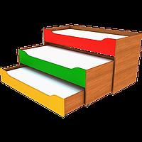 Кроватка раздвижная трехместная (Ренессанс)