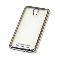 Чехол накладка с хромированной рамкой для iPhone 5 Gold