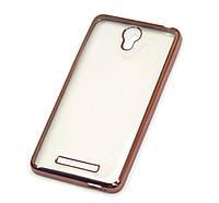 Чехол накладка с хромированной рамкой для Samsung G360 Pink