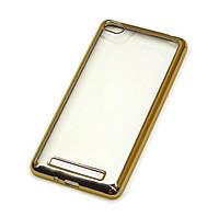 Чехол накладка с хромированной рамкой для Samsung I9500 (S4) Silver