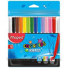 "Фломастеры Maped ""Color Peps Ocean"" 12цв."