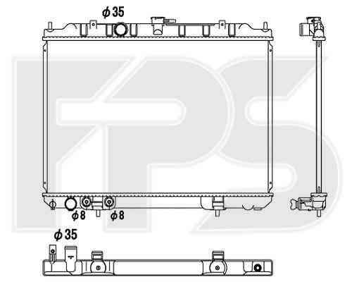 Радиатор охлаждения двигателя Nissan X-TRAIL 2001-2007