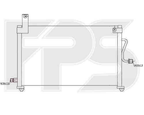 Радиатор кондиционера Daewoo Matiz 2001- (M150)