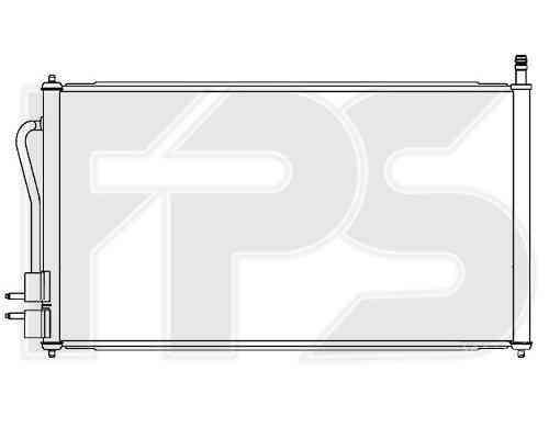 Радиатор кондиционера Ford Focus 1998-2004