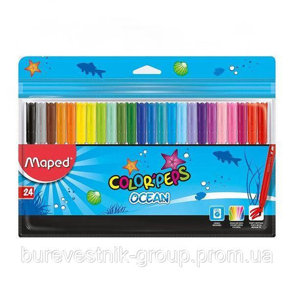 "Фломастеры Maped ""Color Peps Ocean"" 24цв."