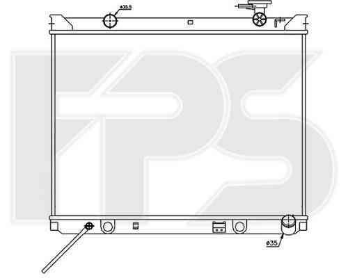 Радиатор охлаждения двигателя Hyundai / Kia (NISSENS) FP 40 A1128