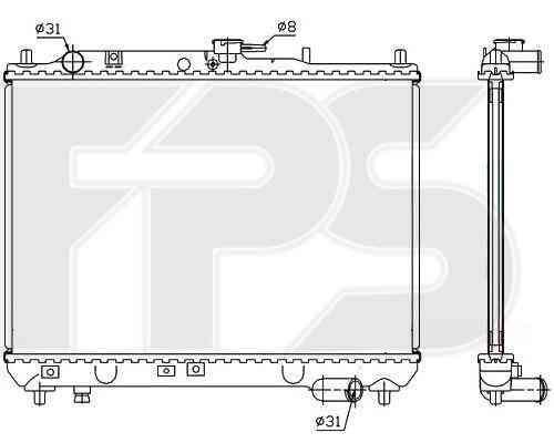 Радиатор охлаждения двигателя Mazda 323 1989-1994 C (BG)