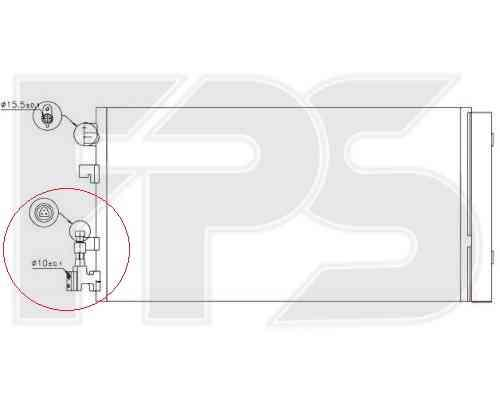 Радиатор кондиционера Renault (Nissens) FP 56 K165-X