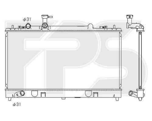 Радиатор охлаждения двигателя Mazda (KOYORAD) FP 44 A636-X