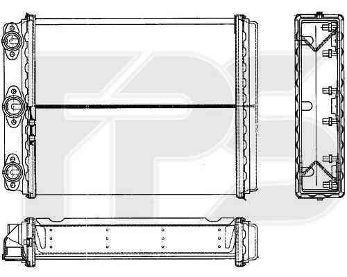Радиатор печки Mercedes W124 E-Class (FPS)