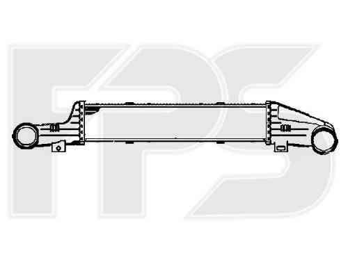 Интеркулер Mercedes (NRF) FP 46 T80