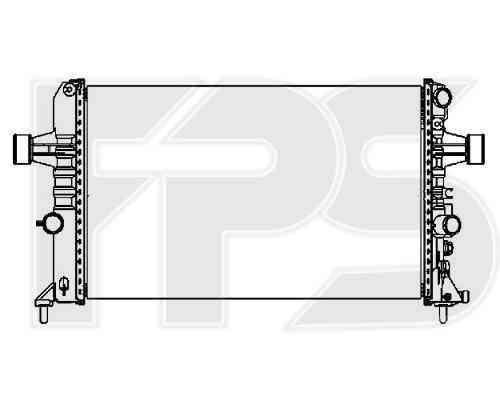 Радиатор охлаждения двигателя Chevrolet / Opel / Daewoo (NRF) FP 52 A1